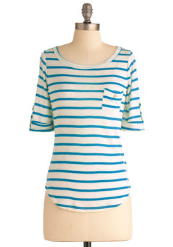 Stripe Zone Top in Blue