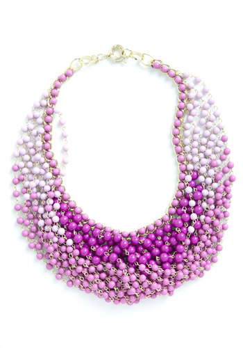Statement of the Art Necklace in Purple - Purple, Party, Statement, Beads, Daytime Party