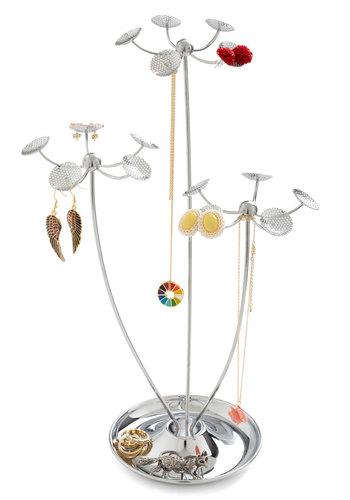 Growing Collection Jewelry Stand - Silver, Solid, Good