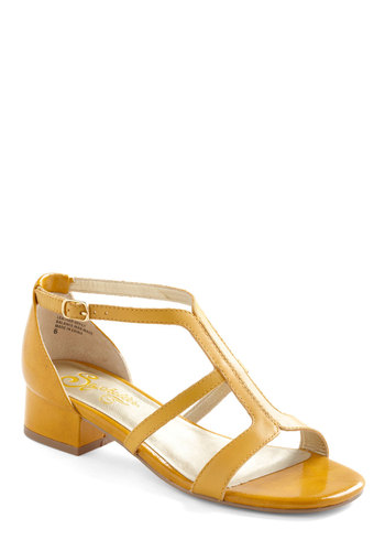 Iris Sandal by Seychelles - Yellow, Solid, Summer, Casual