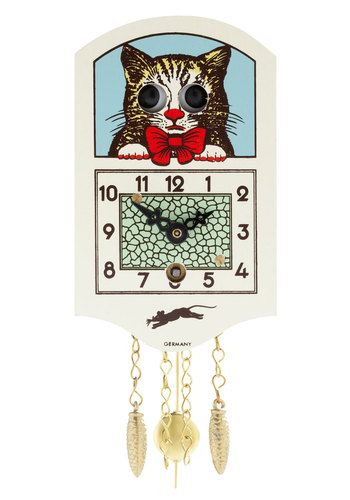 Catch Your Eye Mini Wall Clock - Multi, Multi, Print with Animals, Chain