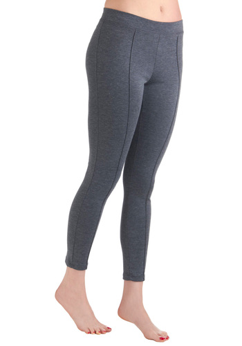 Just in Crease Leggings in Charcoal - Casual, Grey, Solid, Vintage Inspired, Long