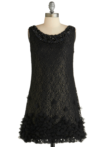 Sample 1814 - Black, Gold, Floral, Beads, Lace, Trim, Formal, Sheath / Shift, Tank top (2 thick straps)
