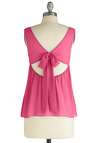 To Beach Her Own Top - Pink, Solid, Cutout, Tank top (2 thick straps), Casual, Summer, Mid-length