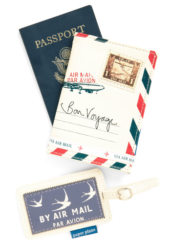Seine Me a Postcard Travel Set by Disaster Designs - White, Red, Blue, Travel, Travel