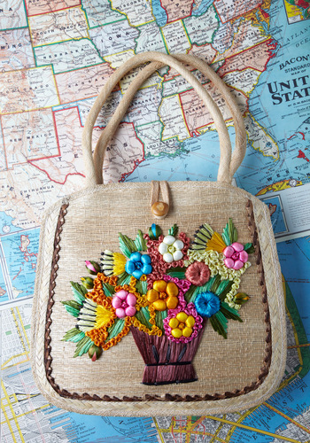 Vintage Flower Arrangement Handbag