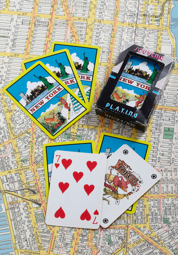 Vintage Shuffle Across the State Playing Cards