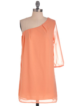 Going Abroad Dress in Peach
