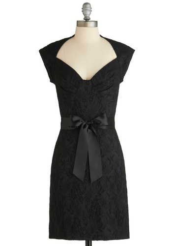 Sample 1831 - Black, Print, Cutout, Special Occasion, Sheath / Shift, Cap Sleeves