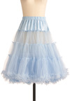 Va Va Voluminous Petticoat in Blue - Blue, Solid, Ruffles, Rockabilly, Vintage Inspired, 50s, Mid-length, Wedding, Pastel, Best Seller, Statement, 60s, Valentine's