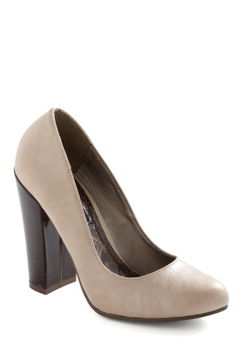 Lobby for Luxury Heel - Tan, Solid, High, Chunky heel, Black, Work, Faux Leather