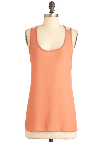 Gotta Terra Cotta Top - Solid, Casual, Tank top (2 thick straps), Orange, Summer, Mid-length