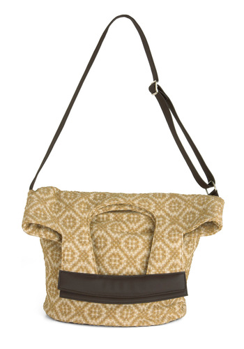 Design Museum Bag - Print, Boho, Yellow, Tan / Cream, Buckles