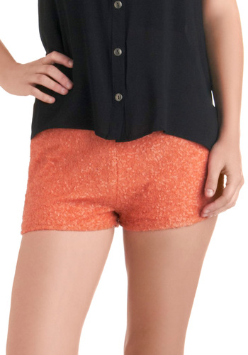 Sequins Ye Shall Find Shorts in Coral - Orange, Solid, Sequins, Short, Girls Night Out