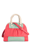 Gotta Handle It to You Bag - Pink, Green, Tan / Cream, Colorblocking, Faux Leather