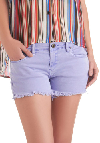 Lavender Fields Forever Shorts by Blank NYC - Purple, Solid, Pockets, Casual, Summer