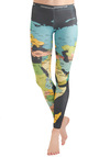 Mapped Crusader Leggings - Casual, Statement, Long, Travel, Multi, Multi
