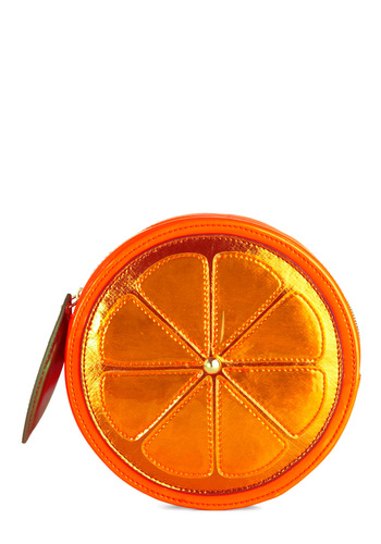 Betsey Johnson Makes Two of Citrus Clutch by Betsey Johnson - Orange, Green, Summer, Fruits, Solid