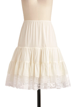 Let's Turn Up the Volume Petticoat in White