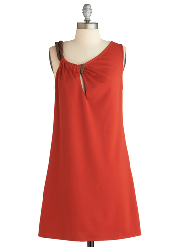 Sample 1839 - Red, Solid, Party, Sheath / Shift, Sleeveless