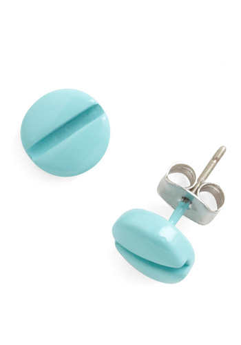 Tools of the Homemade Earrings - Blue, Solid, Casual, Urban
