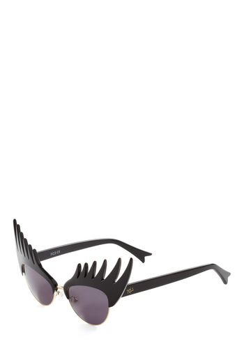 At Lash Sunglasses by Tatty Devine - Black, Solid, Statement, Pinup