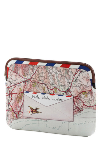 Out of Sitemap Laptop Sleeve - Multi, Red, Blue, White, Multi, Travel