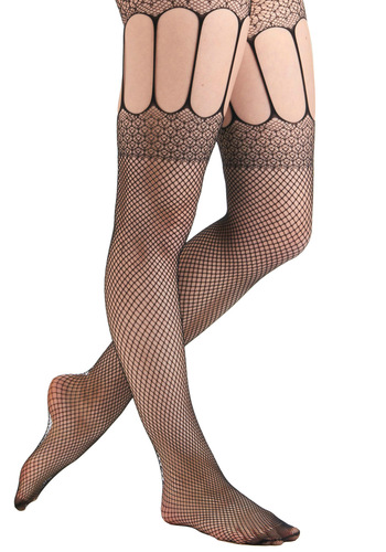 Got It Masquerade Tights - Black, Party, Sheer