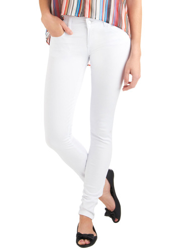In the Nick of Time Jeans - White, Solid, Pockets, Casual, Summer, Long, Denim
