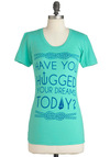 A Perfect Yen Tee in Mint - Mid-length, Green, Blue, Nautical, Short Sleeves, Casual