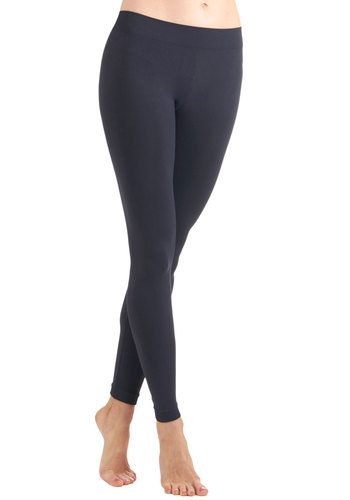 Perfect Pairing Leggings in Charcoal - Grey, Solid, Casual, Seamless