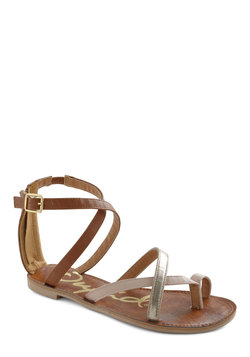 Zipper Along Sandal