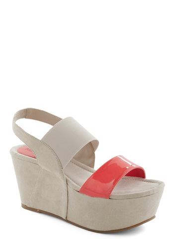 Ambition Statement Wedge - Wedge, Grey, High, Good, Orange, Summer