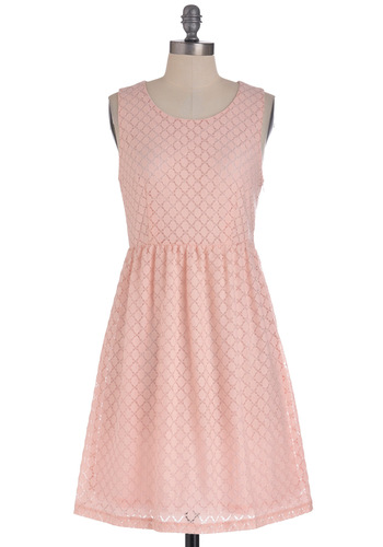 Could Come in Candy Dress - Mid-length, Pink, Solid, A-line, Sleeveless, Pastel