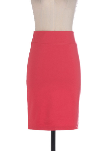 Pencils Downtown Skirt in Pink - Mid-length, Pink, Solid, Work, Pencil, Summer, High Waist, Tis the Season Sale