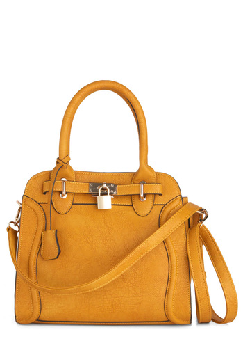 Fields of Goldenrod Bag by Melie Bianco - Solid, Yellow, Faux Leather