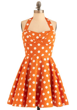 Traveling Cupcake Truck Dress in Orange
