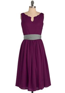 Women's Effortless Allure Dress in Fuchsia