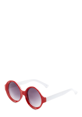 Drop Top Everything Sunglasses by Quay - Red, White