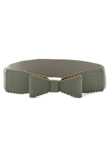 Moss See Belt - Green, Solid, Bows, Scallops