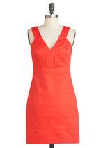 Orange Dresses - Be Seen in Tangerine Dress