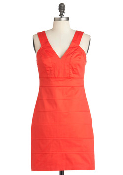 Be Seen in Tangerine Dress