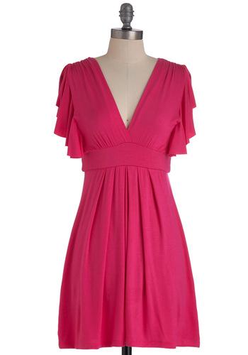 Plum Role Dress in Fuchsia