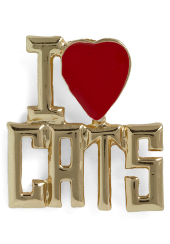 A Girls Best Friend Pin - Gold, Red, Statement