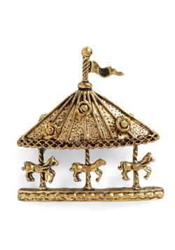Carousel-Made Woman Pin