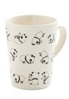 Rolly Polly Panda Mug - White, Black