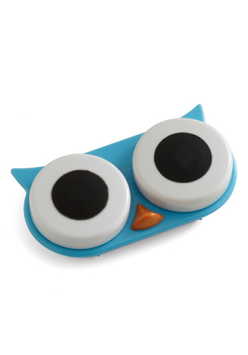 I See Whoo Contact Case by Kikkerland - Travel, Multi, Red, Green, Blue, Best Seller, Best Seller, Travel, Holiday Sale, Variation, Owls, Good, Top Rated