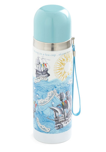 Pushed Out to Tea Travel Mug by Disaster Designs - Blue, Travel, Nautical, International Designer, Eco-Friendly, Good