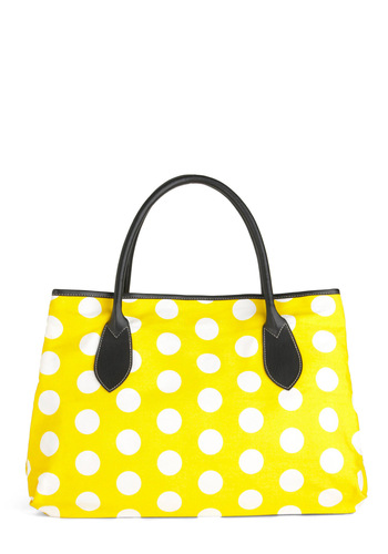 Me and My Honey Bag - Yellow, Polka Dots, Casual, White