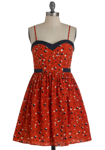 Heartbeat You to It Dress Mod Retro Vintage Dresses ModCloth com from modcloth.com